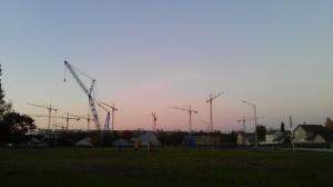 Dawn, effort, and progress;  my morning skyline as a metaphor.