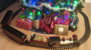 The holiday train my partner surprised me with this year. :-D
