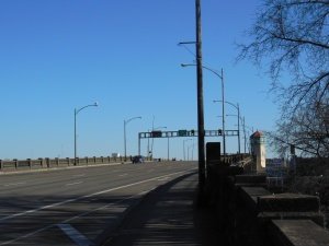 The least interesting view of the Burnside bridge.