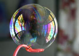 Soap bubbles are also 'real'.