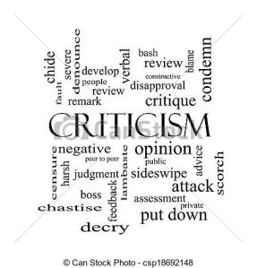 Someone else's word cloud for criticism.