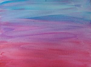 "Untitled, unfinished background, 12"" x 16"" acrylic on canvas w/UV and glow."