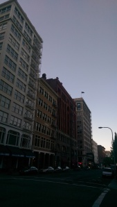 Evening downtown.
