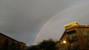 Rainy days sometimes have rainbows.