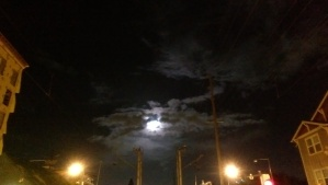 Darkness and illumination, and a moonlit evening walk.