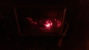 The warm glow of the hearth, and the last quiet moments of the year.