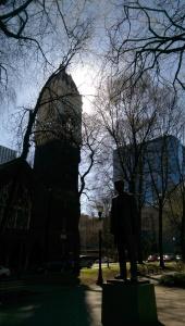 Spring sunshine downtown.
