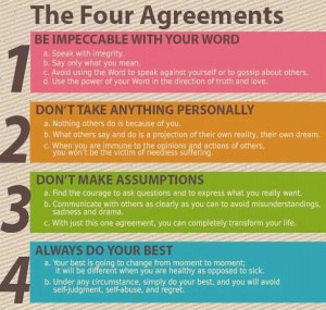 I am rereading the Four Agreements; a worthy starting point on any journey of self.