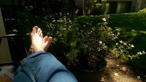 Feet up, relaxing - a worthwhile activity.