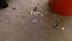 No use crying over spilled tiny hardware parts. :-)