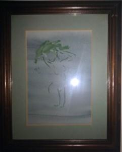 """Joy"" watercolor on paper, 6"" x 8"" 1995"