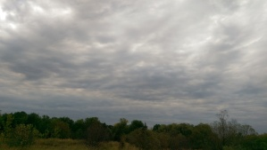Cloudy skies that threaten rain without delivering on their promise.