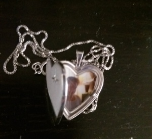A token of affection. Love on a chain. The only heart-shaped locket I have ever owned.