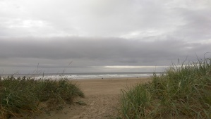 Yesterday's beach trip was more about the horizon than the beach.