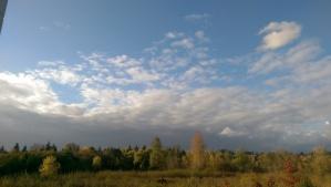 An autumn evening, a horizon, a quiet moment.