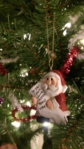 Even Santa has a list...