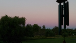 A cotton candy sky ends a lovely day.